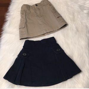 Lot of 2 Lands' End Uniform skorts Size 5 Slim